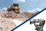 Tele-operation (Remote controlled operation) of earth moving equipment