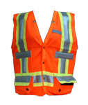Orange RFID Safety Vest